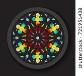vector stained glass window... | Shutterstock .eps vector #721951438