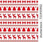 christmas seamless pattern ... | Shutterstock .eps vector #721955902