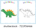 coloring book page for... | Shutterstock .eps vector #721956466