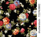 flowers pattern.for textile ... | Shutterstock . vector #721963882