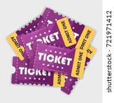 movie tickets. design. vector... | Shutterstock .eps vector #721971412