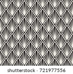 vector floral art nouveau... | Shutterstock .eps vector #721977556