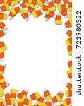 candy corn frame background...   Shutterstock .eps vector #721980322