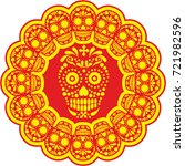 holy death  day of the dead ... | Shutterstock .eps vector #721982596