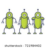 robot in cartoon style.virtual... | Shutterstock .eps vector #721984402