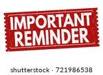 important reminder grunge... | Shutterstock .eps vector #721986538