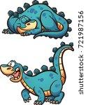 sleeping and awake cartoon... | Shutterstock .eps vector #721987156