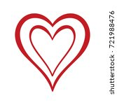 red heart icon in trendy flat... | Shutterstock .eps vector #721988476