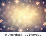 snowflakes retro frame... | Shutterstock . vector #721989832