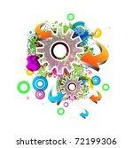 abstract vector background | Shutterstock .eps vector #72199306