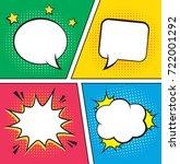 retro comic empty speech... | Shutterstock . vector #722001292
