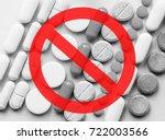 stop opioids. painkillers...   Shutterstock . vector #722003566