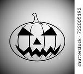 halloween pumpkin icon | Shutterstock .eps vector #722005192