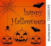 happy halloween text banner | Shutterstock .eps vector #722005195