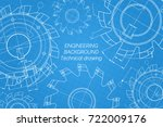 mechanical engineering drawings ... | Shutterstock .eps vector #722009176