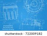 mechanical engineering drawings ...   Shutterstock .eps vector #722009182