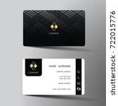 modern business card template...   Shutterstock .eps vector #722015776