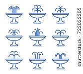 Fountain Outline Icon Set....