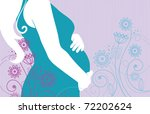 Silhouette Of Pregnant Woman In ...