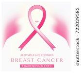 breast cancer awareness month... | Shutterstock .eps vector #722029582