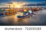logistics and transportation of ... | Shutterstock . vector #722035285