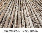 Dry Wood Log Floor Texture
