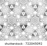 ethnic design. striped... | Shutterstock . vector #722045092