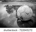 poor old ball  | Shutterstock . vector #722045272