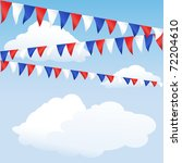 Red White And Blue Bunting....
