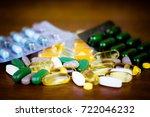 drug prescription for treatment ... | Shutterstock . vector #722046232
