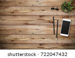 modern workplace with... | Shutterstock . vector #722047432