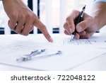 architecture drawing on... | Shutterstock . vector #722048122