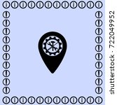 map pointer service icon ... | Shutterstock .eps vector #722049952