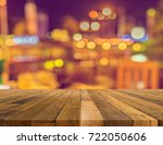 image of wood table and blur... | Shutterstock . vector #722050606