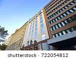 modern town building exterior... | Shutterstock . vector #722054812