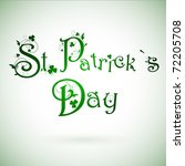 st.patrick day greeting with... | Shutterstock .eps vector #72205708