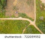 aerial bird eye view of... | Shutterstock . vector #722059552