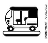tuk tuk or rickshaw icon image  | Shutterstock .eps vector #722060962