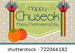 happy  korean thanksgiving day... | Shutterstock .eps vector #722066182