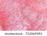 Close Up Pink Fur Texture Or...