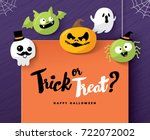 happy halloween | Shutterstock .eps vector #722072002
