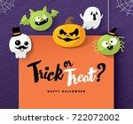 happy halloween   Shutterstock .eps vector #722072002