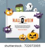 happy halloween | Shutterstock .eps vector #722072005
