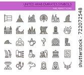 united arab emirates symbols  ... | Shutterstock .eps vector #722072548