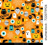 seamless pattern of various... | Shutterstock .eps vector #722075926
