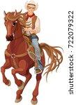 illustration of horse riding...   Shutterstock .eps vector #722079322
