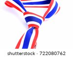 ribbon neckties in colors of... | Shutterstock . vector #722080762