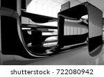 abstract dynamic interior with...   Shutterstock . vector #722080942