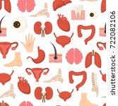 cartoon human internal organs... | Shutterstock .eps vector #722082106
