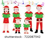 christmas concert with family. | Shutterstock .eps vector #722087542